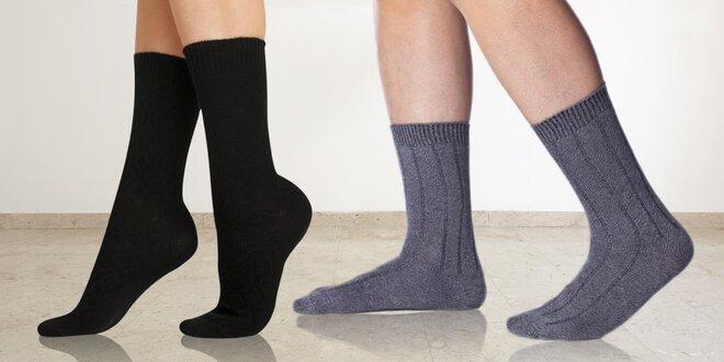 Dámské a pánské zimní ponožky Bellinda s bambusem