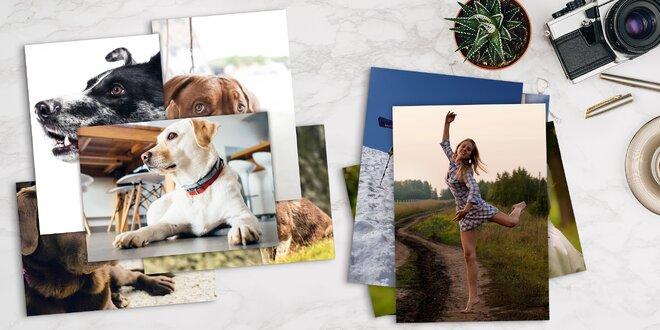 10 fotek ve formátu A4 nebo A3 na křídovém papíře