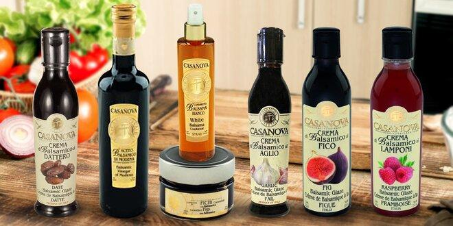 Octy balsamico z Itálie, krémy, omáčky i salsy