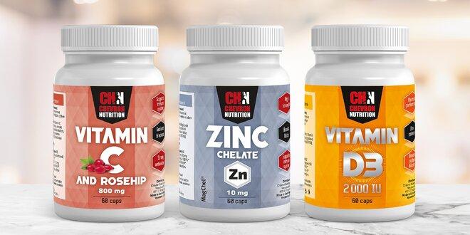 Vitamin C se šípkem, D i zinek v kapslích