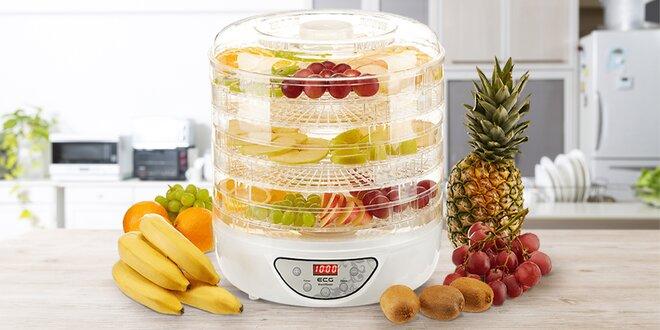 5patrová sušička ECG na ovoce, maso a další potraviny