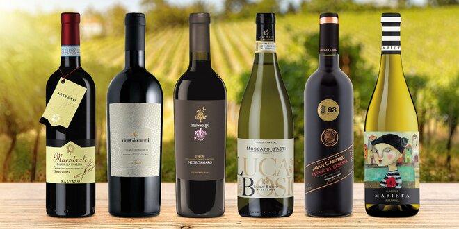 20 vín z celého světa i sada šesti lahví
