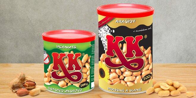 Tradiční pražené arašídy KK se solí i bez soli