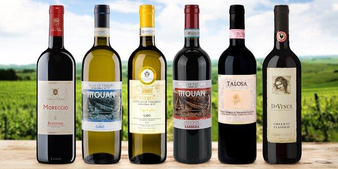 Dárkově balená italská vína: Chianti, Prosecco aj.