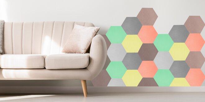 Ochranné samolepicí polygony z pěny: 7 barev