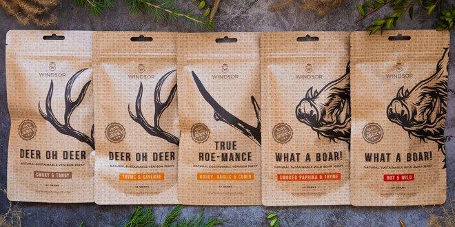 1–10 balíčků zvěřinových jerky s medem i paprikou