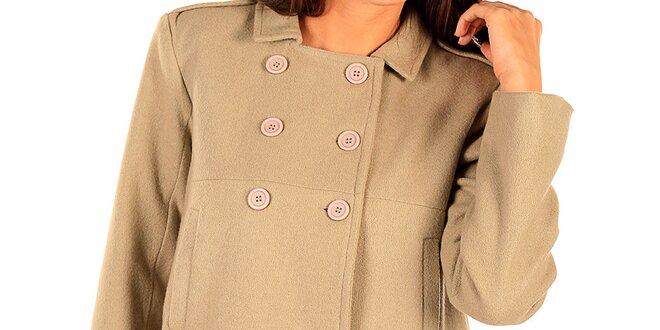 Dámský krátký béžový kabátek Tonala  4f31b91590