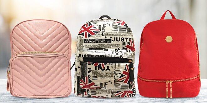 Dámské elegantní batůžky v různých barvách a vzorech
