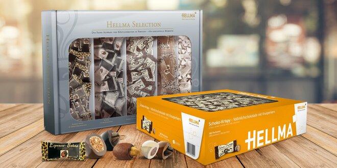 Čokoládičky Hellma ve velkém balení: 200 i 380 ks