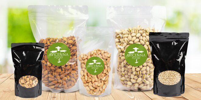 Kešu, pistácie, mandle, vlašské i piniové ořechy