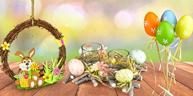 Velikonoční dekorace: věnečky i malovaná vajíčka