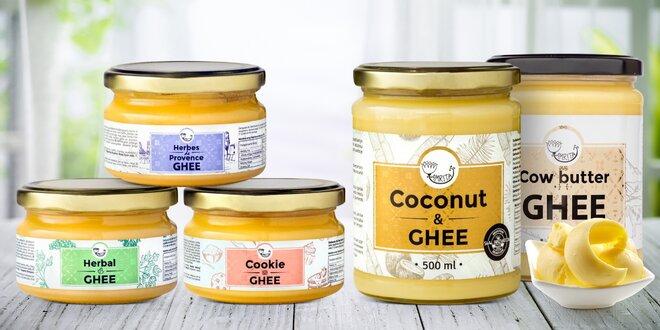 Ghí: čisté i s extraktem bylin či kokosovým olejem