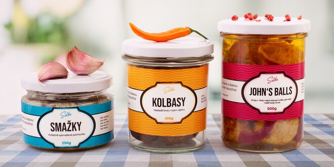Veganské pochoutky Sellka: Kolbasy i John's Balls