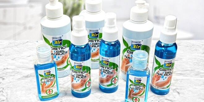 Set antimikrobialních gelů na ruce: 50, 100 a 250 ml