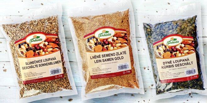 Zdraví prospěšná semínka: lněné, konopné i mák