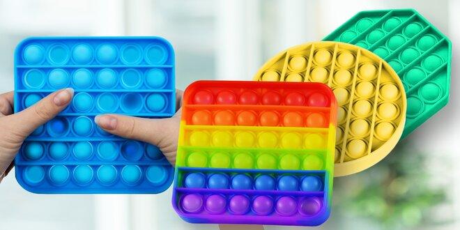 Antistresová senzorická hračka POP IT: 3 tvary