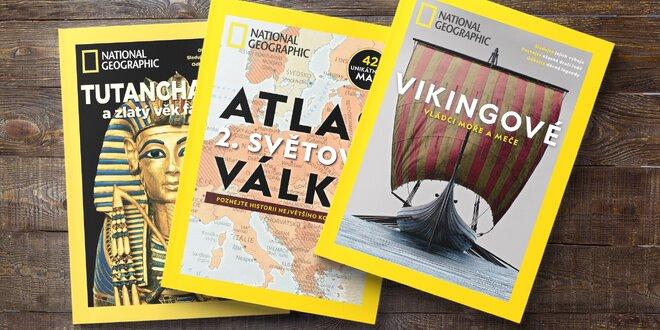 Balíček atlasů National Geographic s dárkem
