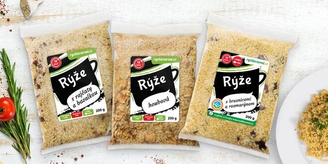 Rychlé vaření: ochucené rýže bez zbytečné chemie