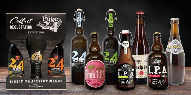 Balíčky piv z Francie, Dánska i Belgie a Nizozemí
