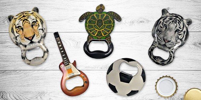 Otvíráky s magnetem: zvířata, míč, nota či kytara