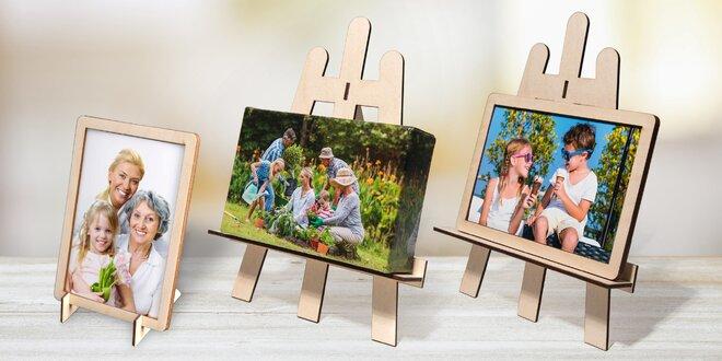 Fotodekorace: dřevěný rámeček či malířský stojánek