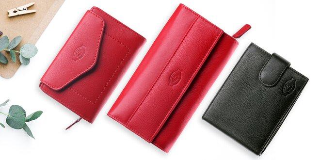 Dámské a pánské peněženky z pravé kůže