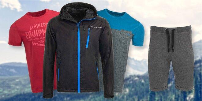 Pánská trika i kraťasy a bunda od Alpine Pro
