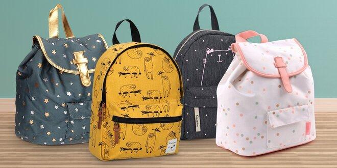 Veselé dětské batohy a kufřík na kolečkách