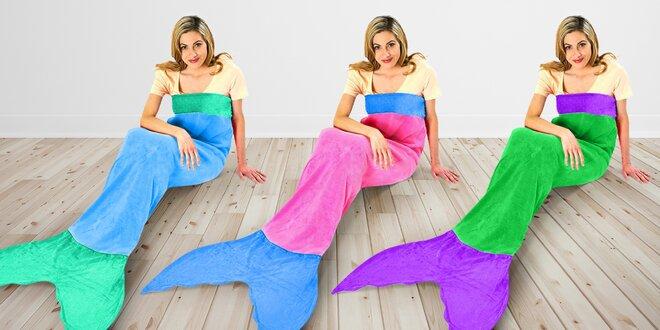 Deka ve tvaru ploutve mořské panny: 7 barev