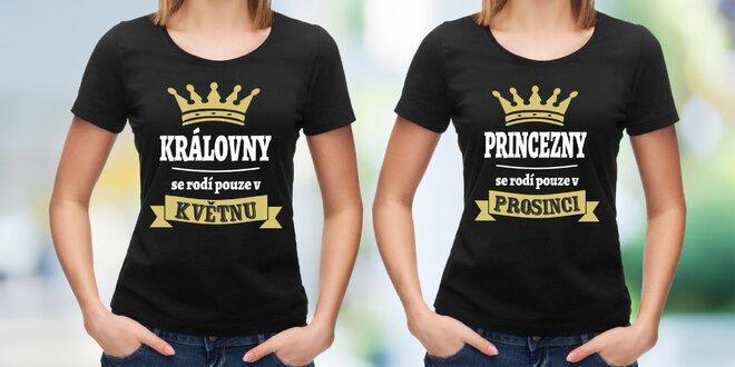 Narozeninová trička pro princezny a královny