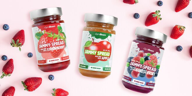 3 druhy marmelád bez cukru a s minimem kalorií