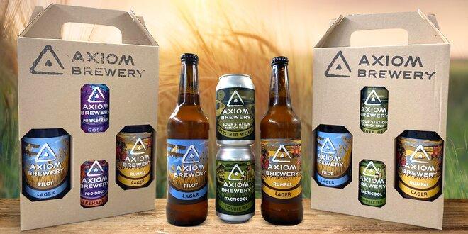 Dárkový set 4 řemeslných piv z českého pivovaru Axiom