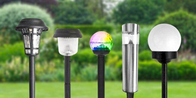 Odolné LED solární lampy na zahradu i verandu