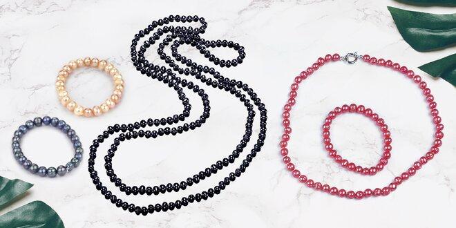 Náhrdelníky i náramky z pravých říčních perel