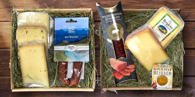 Balíčky tyrolského potěšení: sýry, klobásy i šunka