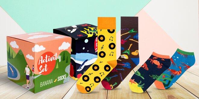 Kotníkové i vysoké ponožky s veselými vzory
