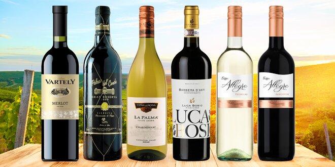 Vína z Moldávie, Chile, Itálie a Španělska