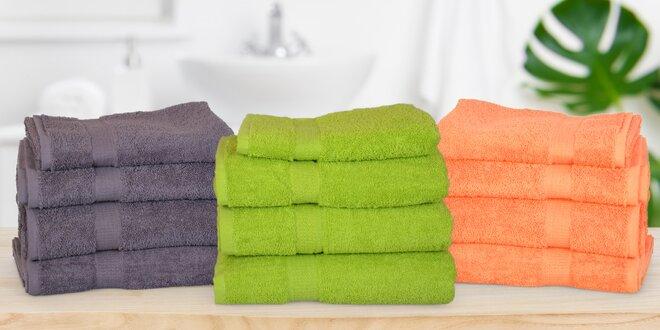 Jednobarevné ručníky a osušky ze 100% bavlny