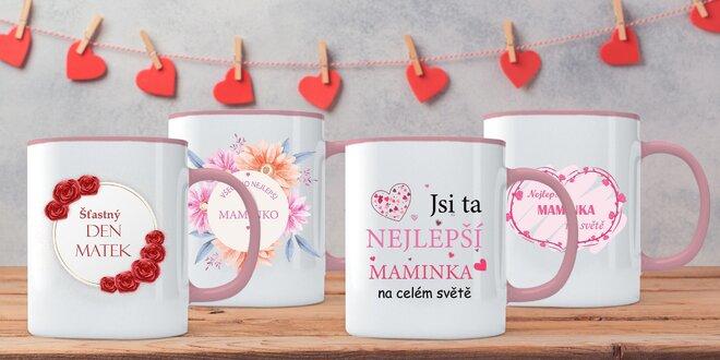 Hrníčky s různými nápisy pro milované maminky