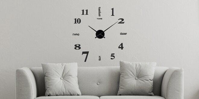 Velké nalepovací hodiny: zlaté, černé či stříbrné