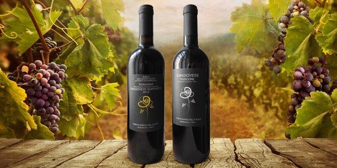 Kvalitní červená vína z Itálie: 1, 2 nebo 6 láhví