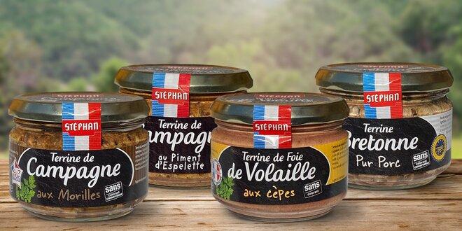 Francouzské teriny: vepřová, jelení i kachní