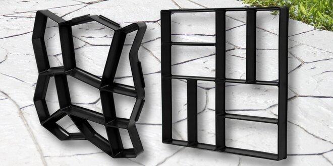 Formy na betonové chodníky či dlažbu: různé vzory