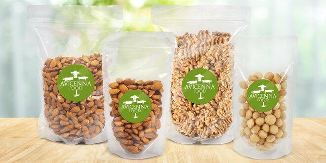 Kešu, pistácie, mandle i směsi ořechů, až 2 kg