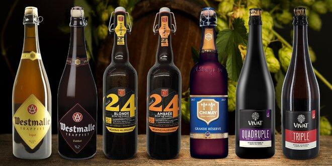 Sedmičky prémiových piv z Francie a Belgie