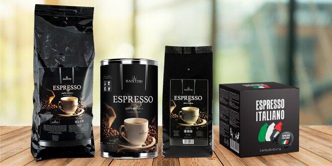 Mletá nebo zrnková káva Santini i kávové kapsle