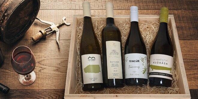 Sommelierská bedýnka 4 českých vín na měsíc květen