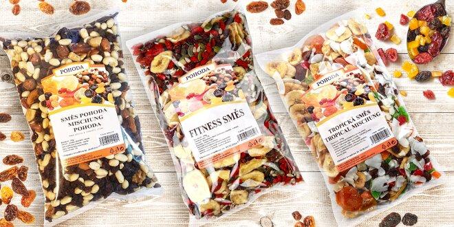 Směsi ořechů, semínek a ovoce Pohoda: 19 druhů