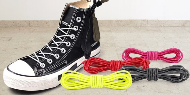 Elastické tkaničky do bot ve 12 barvách