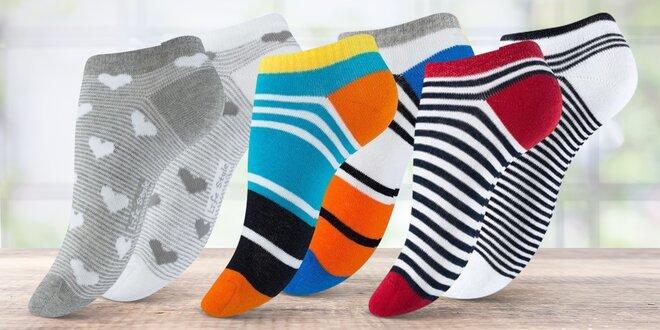 Balení 3–5 párů dámských kotníkových ponožek
